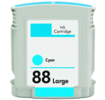 Remanufactured Hewlett Packard C9391AN (HP 88XL Cyan) Hi-Yield Ink