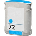 Remanufactured HP C9398A (HP 72) Standard Yield Cyan Ink Cartridge
