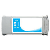 Remanufactured Hewlett Packard C9467A (HP 91) Cyan Ink Cartridge