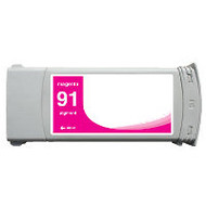 Remanufactured Hewlett Packard C9468A (HP 91) Magenta Ink Cartridge