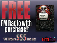 Free FM Radio with $55 purchase