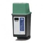Remanufactured Hewlett Packard 51626A (HP 26) Black Ink Cartridge