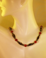 Carnilian Red Agate Necklace (Ladies)