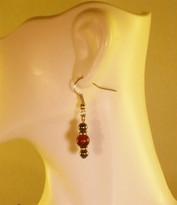 Red Tigereye Earrings (Ladies)