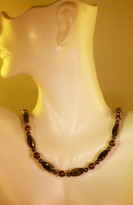 Hematite w_6mm Copper Necklace (Ladies)