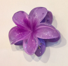 Hawaiian Flower Claw Pastel Purple
