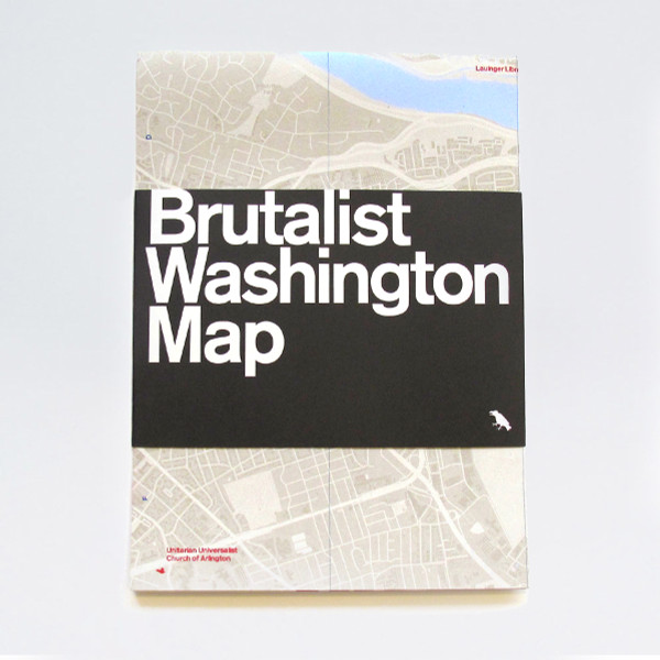 Brutalist Washington Map by Blue Crow Media at of cabbages and kings oc&k