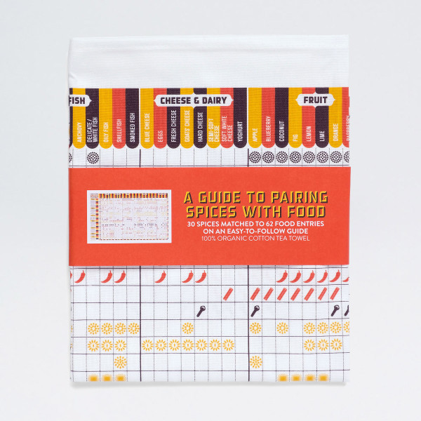 A Guide to Pairing Spices With Food tea towel by Stuart Gardiner, available at Of Cabbages & Kings.