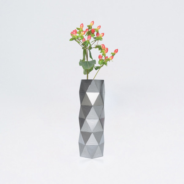 Medium Stainless Steel Geometric Convert Vase
