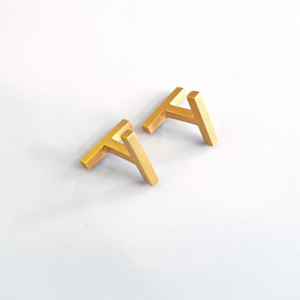 Gold Béton cufflinks from Tom Pigeon available at Of Cabbages & Kings.