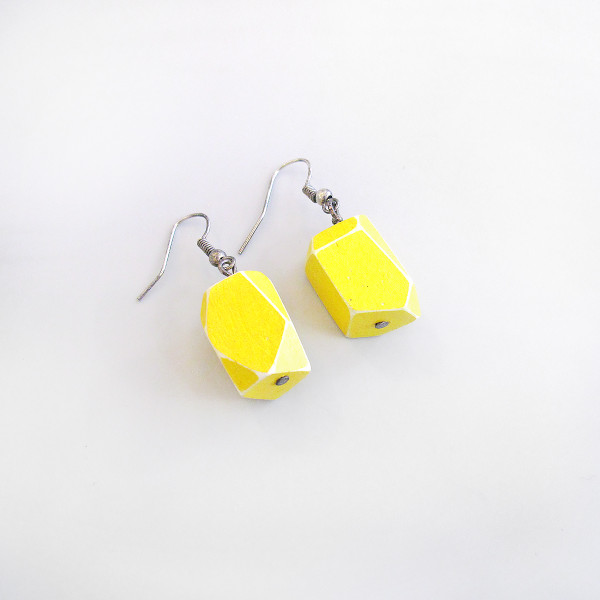 Yellow Dangle Earring by Grey Jay at of cabbages and kings