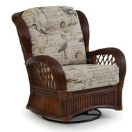Island Way Rattan High Back Swivel Glider