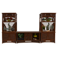 Island Way Rattan Entertainment Center