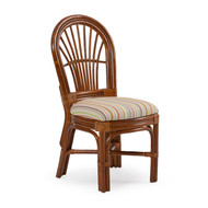 Islamorada Rattan Dining Side Chair Pecan Glaze
