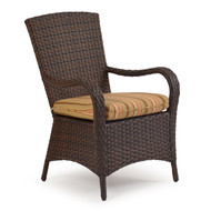 Kokomo Outdoor Wicker Dining Arm Chair Tortoise Shell