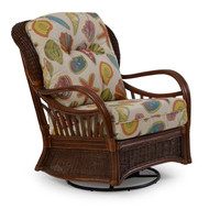 Islamorada Rattan High Back Swivel Glider Pecan Glaze