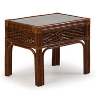 Islamorada Rattan End Table Pecan Glaze