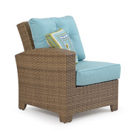 Kokomo Outdoor Wicker Chair with Left Arm Oyster Grey