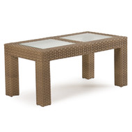 Kokomo Outdoor Wicker Cocktail Table Oyster Grey
