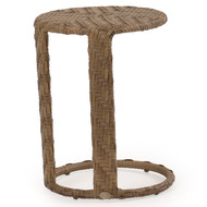 Kokomo Outdoor Wicker Round End Table Oyster Grey
