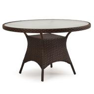"Kokomo Outdoor Wicker 48"" Round Dining Table Tortoise Shell"