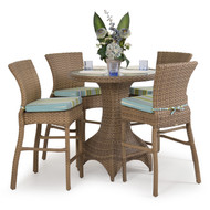 Kokomo Outdoor Wicker 5 Piece Bar Set Oyster Grey