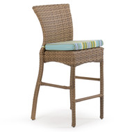 Kokomo Outdoor Wicker Bar or Counter Stool Oyster Grey
