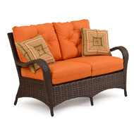 Kokomo Outdoor Wicker Loveseat Tortoise Shell