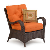 Kokomo Outdoor Wicker Club Chair Tortoise Shell