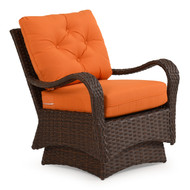 Kokomo Outdoor Wicker Spring Chair Tortoise Shell