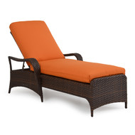 Kokomo Outdoor Wicker Chaise Lounge Tortoise Shell