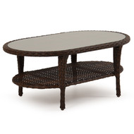 Kokomo Outdoor Wicker Oval Cocktail Table Tortoise Shell