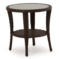 Kokomo Outdoor Wicker End Table Tortoise Shell