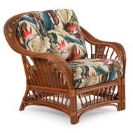 Bali Rattan Lounge Chair Pecan Glaze