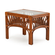 Bali Rattan End Table Pecan Glaze