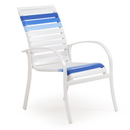 Cancun Strap Patio Dining Chair Blue