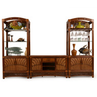 Islamorada Rattan 3 Piece Entertainment Center