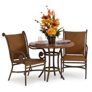 """Tahiti Outdoor Wicker 3 Piece 36"""" Round  Bistro Dining Set"""