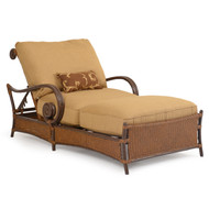 Tahiti Outdoor Wicker Chaise and a Half