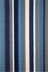Vertical Blue Stripe Indoor Outdoor Rug