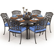 Trellis Cast Aluminum 7 Piece Dining Set