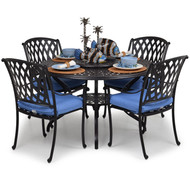 Trellis Cast Aluminum  5 Piece Dining Set