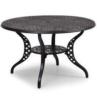 "Trellis Cast Aluminum 48"" Round Dining Table"