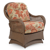 Coquina Key Outdoor Wicker Spring Chair Driftwood