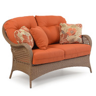 Coquina Key Outdoor Wicker Loveseat Driftwood