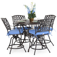 Trellis Cast Aluminum 5 Piece Counter Set