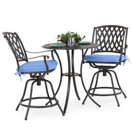 Trellis Cast Aluminum 3 Counter Set