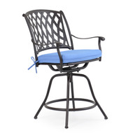 Trellis Cast Aluminum Swivel Counter Stool