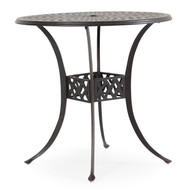 "Trellis Cast Aluminum 42"" Round Bar Table"