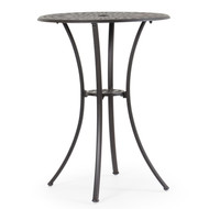 "Trellis Cast Aluminum 30"" Round Bar Table"